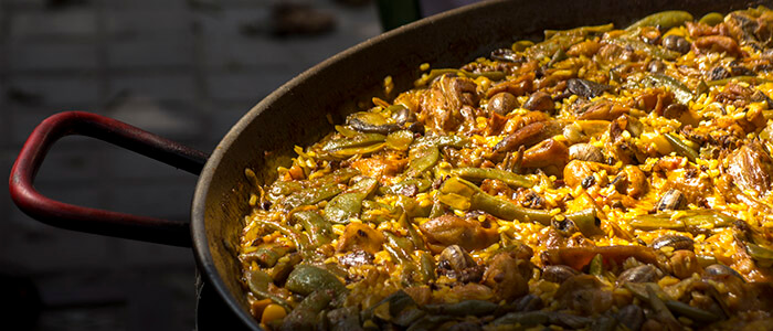 Platos paella y arroces